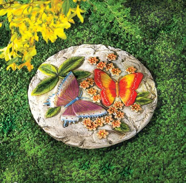 Garden accessories from wind chimes to stepping stones